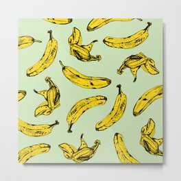 Mint Banana Metal Print