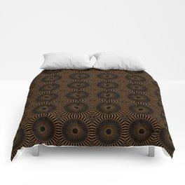 CANDREL copper on black mandala repeat pattern Comforters