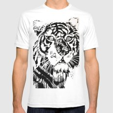Tiger  Mens Fitted Tee SMALL White