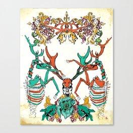 Deer and Deathbells  Canvas Print