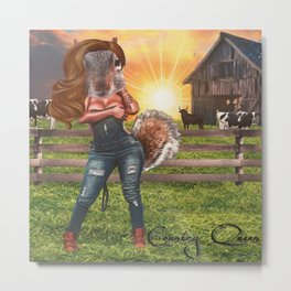 Country Queen Metal Print