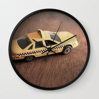 death cab for cutie Wall Clocks featuring cab by Vin Zzep