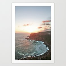 Coastal African Sunset Art Print