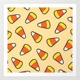 Candy Corn Pattern Art Print