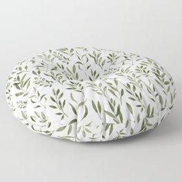 Eucalyptus - green leaves Floor Pillow