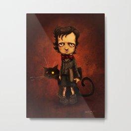 Little Poe Metal Print