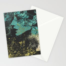 Third Stone From The Sun I   graffiti female portrait Stationery Cards