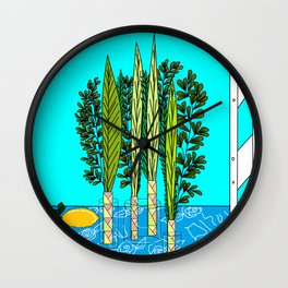 A Sukkot, Lulav and Estrog, Celebration Wall Clock