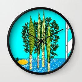 A Sukkot, Lulav and Estrog, Celebration Wall Clock