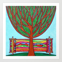 Gilded Tree of Life Art Print