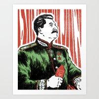 Stalin Sauce Art Print