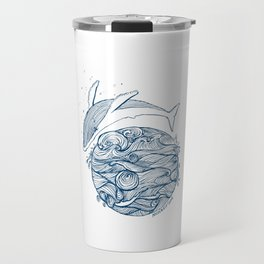 Crying whale Travel Mug