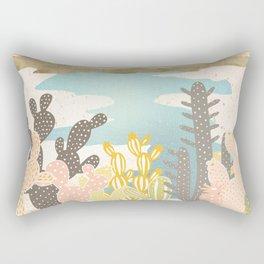 Retro Desert Oasis Rectangular Pillow