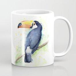 Toucan Tropical Bird Watercolor Coffee Mug