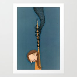 drowned in Liquid  Art Print