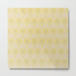 Mustard Spice Moods Palm Metal Print