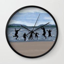 Jump in the lake Wall Clock