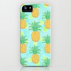 Pineapples and Polka Dots (pattern) Slim Case iPhone (5, 5s)