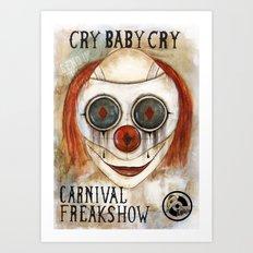 Cry Baby Clown Art Print