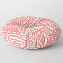 Palm Fronds in Living Coral Floor Pillow