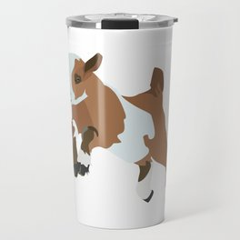 Baesic Prancing Goat (Brown) Travel Mug