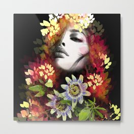 Passion Flowers Metal Print