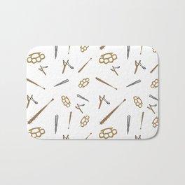 Weapons Pattern Bath Mat
