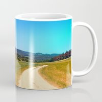 hiking Mugs featuring Another lonely hiking trail by Patrick Jobst