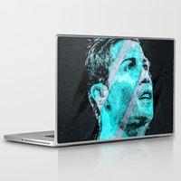 ronaldo Laptop & iPad Skins featuring Cristiano Ronaldo Illustration by Nijaz Muratovic