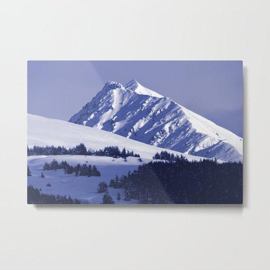 Back-Country Skiing - 8 Metal Print