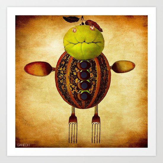 Léon  le melon Art Print