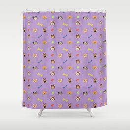 Dog Toy Pattern Shower Curtain