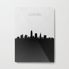 City Skylines: Cleveland Metal Print