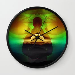 Lucid Dream of Isolation Wall Clock