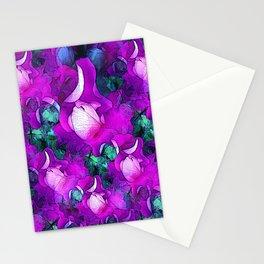 Purple Rose Fantasy Stationery Cards