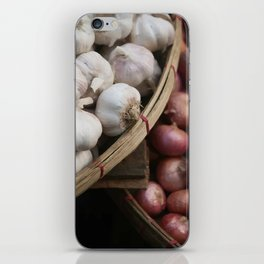 Garlic and Onions Basket - Market -  iPhone Skin