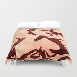 Old Woman nude Duvet Cover