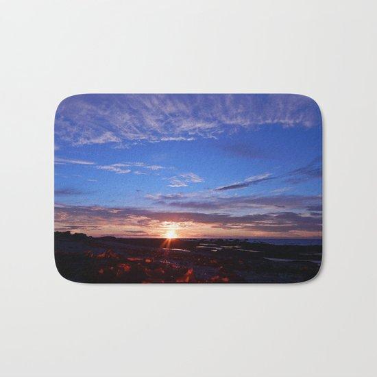 Sunset and Blue Sky Bath Mat