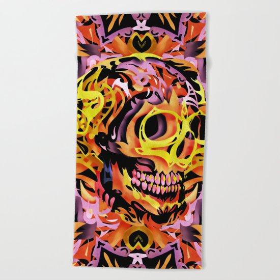 Skull V Beach Towel
