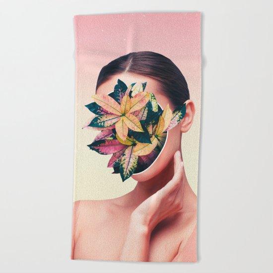 PLANT FACE Beach Towel