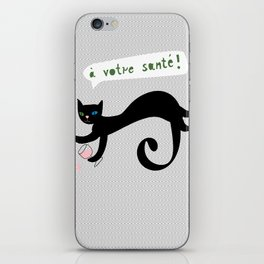 party animals - french cat iPhone Skin