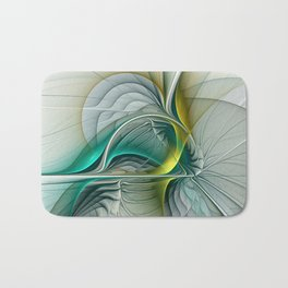 Fractal Evolution, Abstract Art Graphic Bath Mat