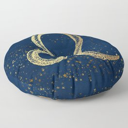 Leo Zodiac Sign Floor Pillow