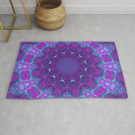 Pink, Purple, and Blue Kaleidoscope Rug