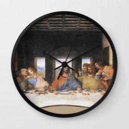 The last supper- painting by Leonardo da Vinci Wall Clock