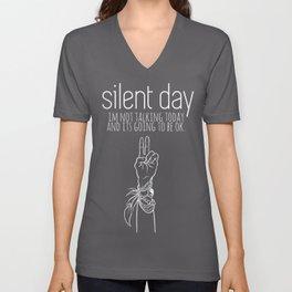 Silent Day Unisex V-Neck