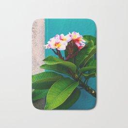 Plumeria, Tropical Flower Wall Art. Bath Mat