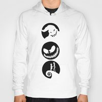 nightmare before christmas Hoodies featuring Nightmare Before Christmas by Linda V.