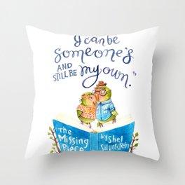 Tweet Hearts Throw Pillow