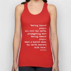 Charles Bukowski Typewriter White Font Quote People Unisex Tank Top